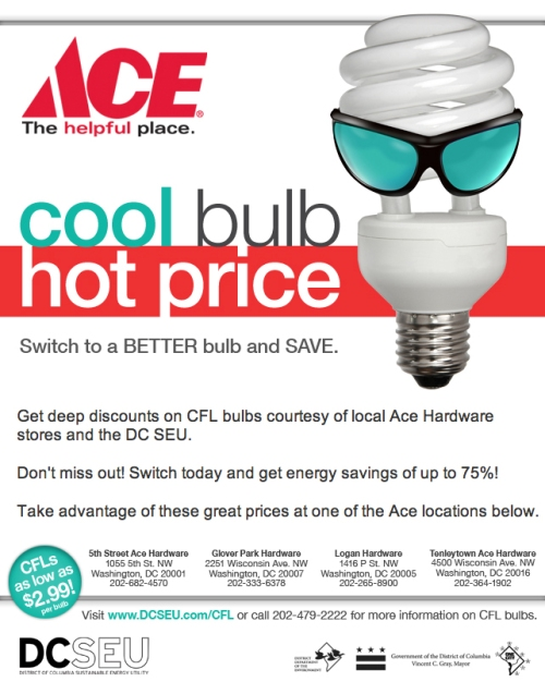 Save energy with discounted CFLs
